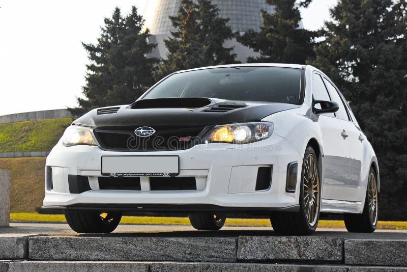 Kiev, Ukraine; January 20, 2014. Subaru Impreza WRX STI royalty free stock photos