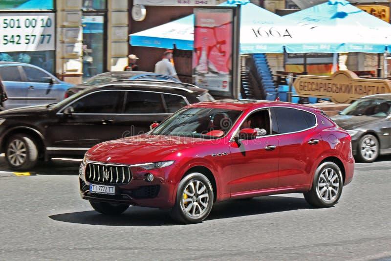 Kiev, Ukraine. June 10, 2017. Maserati Levante. Off-road car Maserati. In motion stock photos