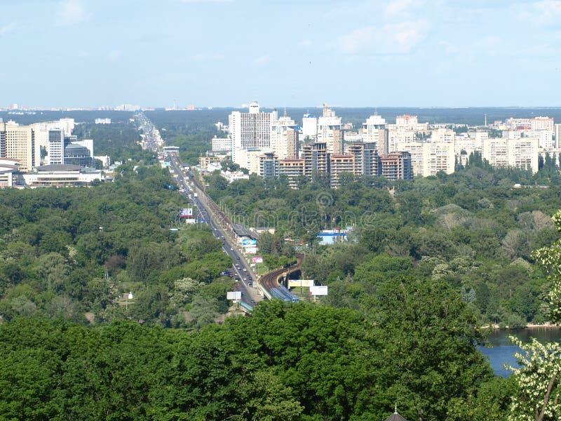 Kiev, Ukraine. The left bank of the Dnieper stock photos