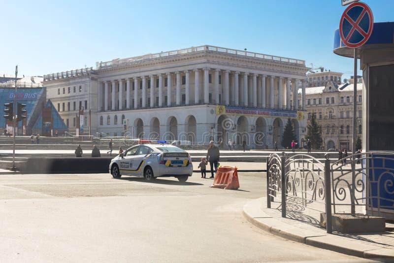 Kiev, Ukraine - 6 mai 2017 : La rue centrale de Kyiv capitale ukrainien Khreschatyk s'est fermée pour le trafic en la voiture de  photo libre de droits