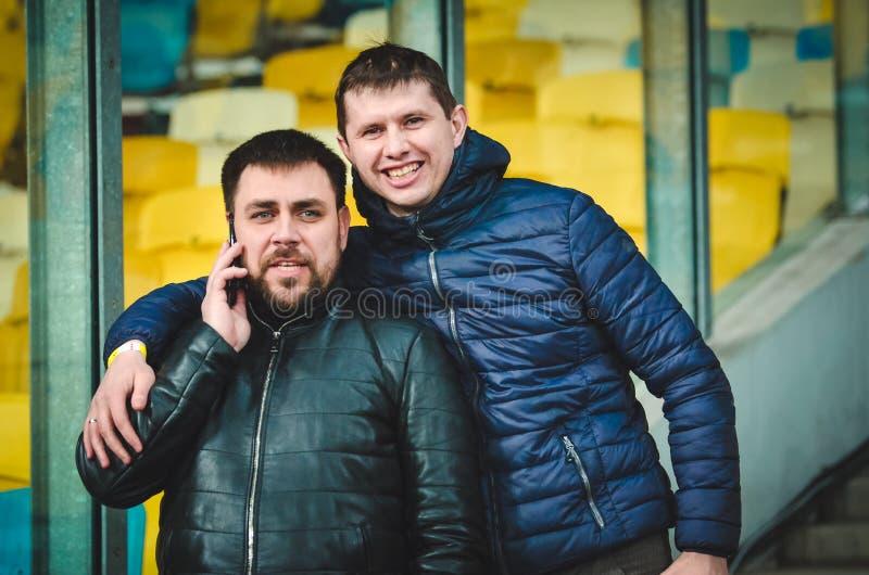 Kiev, UKRAINE - March 14, 2019: Chelsea  fans support the team during the UEFA Europa League match between Dynamo Kiev vs Chelsea. (London, England), NSC stock photography
