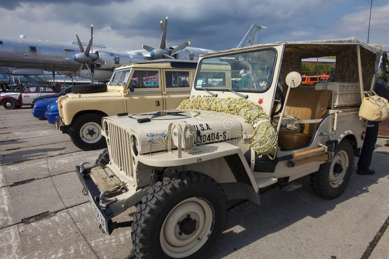 KIEV, UKRAINE - MAY 10, 2019: military vehicle of the US armed forces stock images