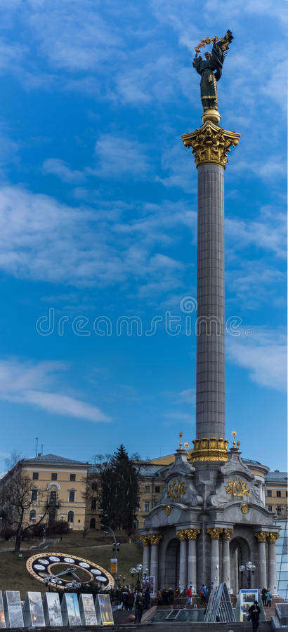 Kiev Ukraine Maydan Stella stock images