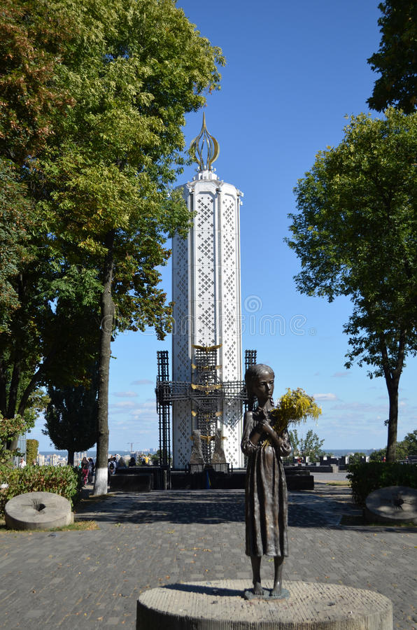 KIEV, UKRAINE - Nov 26, 2016: Monument to victims of Holodomor. stock photography