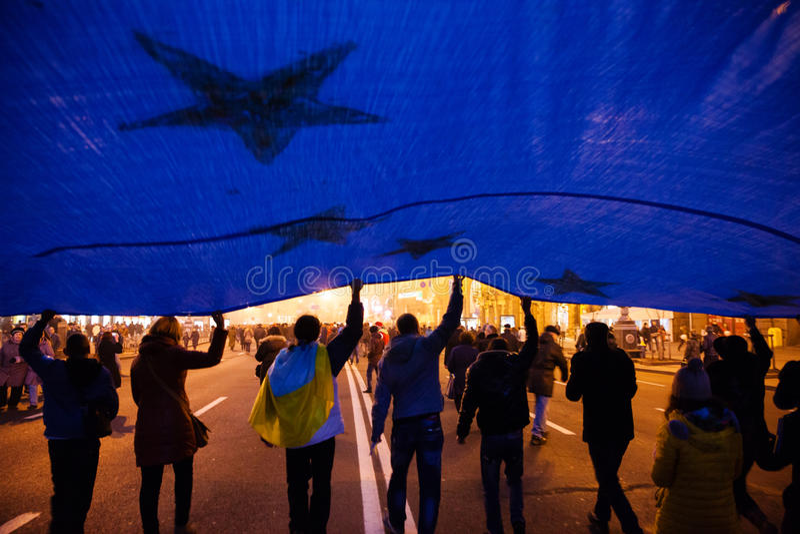 KIEV, UKRAINE - NOVEMBER 24: EuroMaidan Editorial Photography