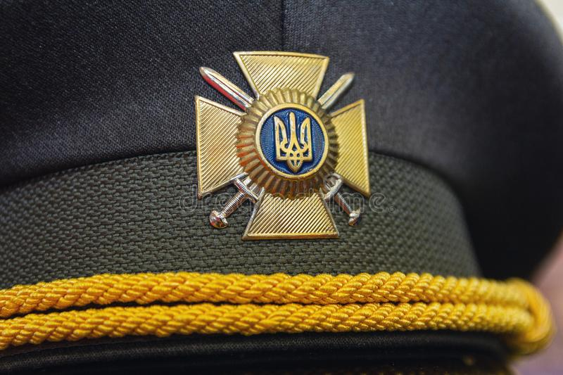 Kiev, Ukraine - October 10, 2018: Cap of the Ukrainian army stock images