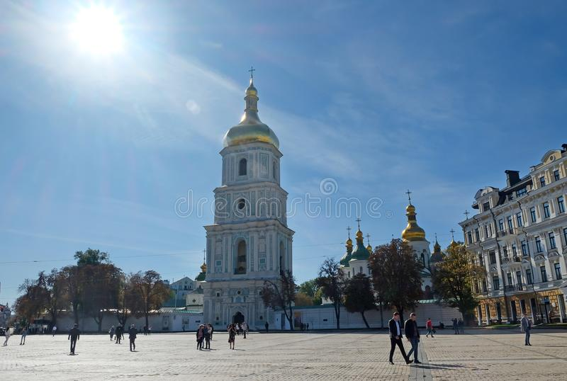 Saint Sophia Cathedral in Kiev royalty free stock photography
