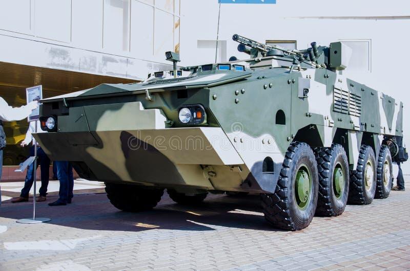 Kiev, Ukraine - 10 octobre 2018 : Char d'assaut BTR-4MB1 BRAS internationaux ET SÉCURITÉ 2018 d'exposition images libres de droits