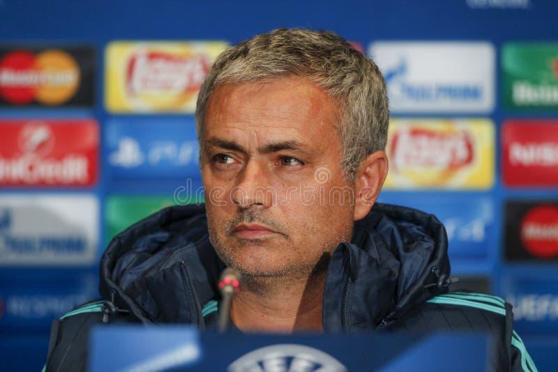 KIEV, UKRAINE - 20 OCTOBRE : Jose Mourinho image stock