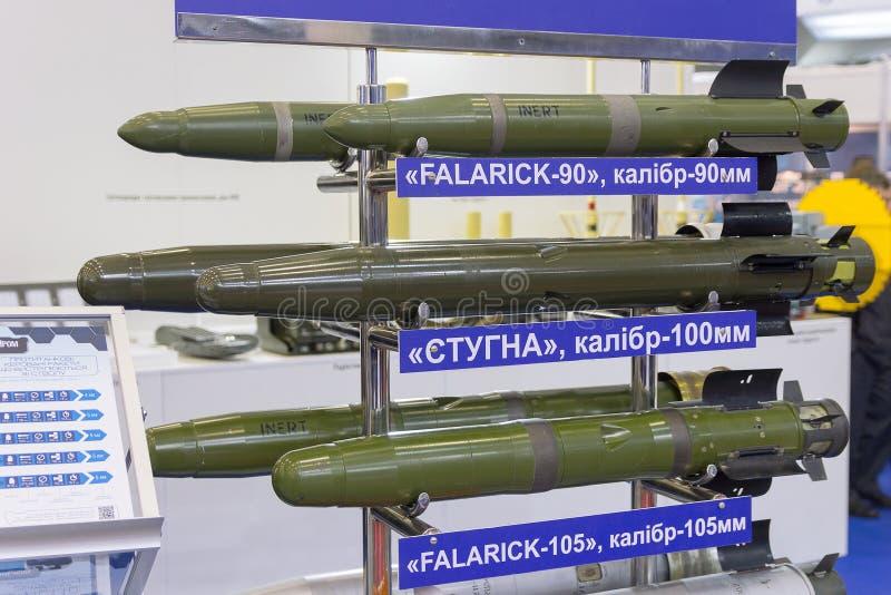 Kiev, Ukraine - - 14 octobre 2016 : Production ukrainienne guidée de missiles antichar à l'exposition photo libre de droits