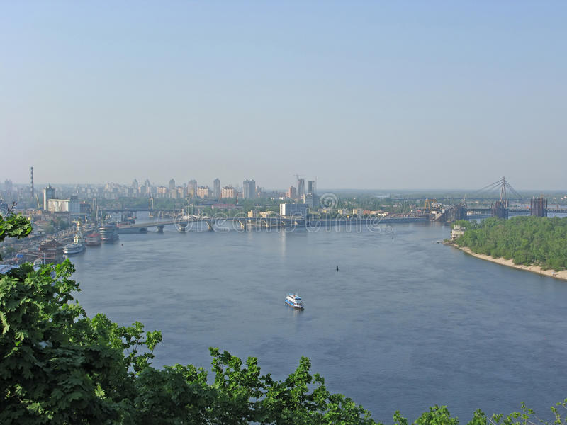Kiev, Ukraine. Panorama of Dnepr. Kiev. Panorama of river Dnepr stock images