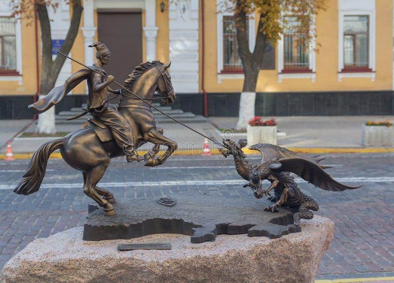 Kiev, Ukraine - 17 septembre 2015 : Le monument aux défenseurs de l'intégrité nationale de l'Ukraine a péri localisé près du le photographie stock libre de droits