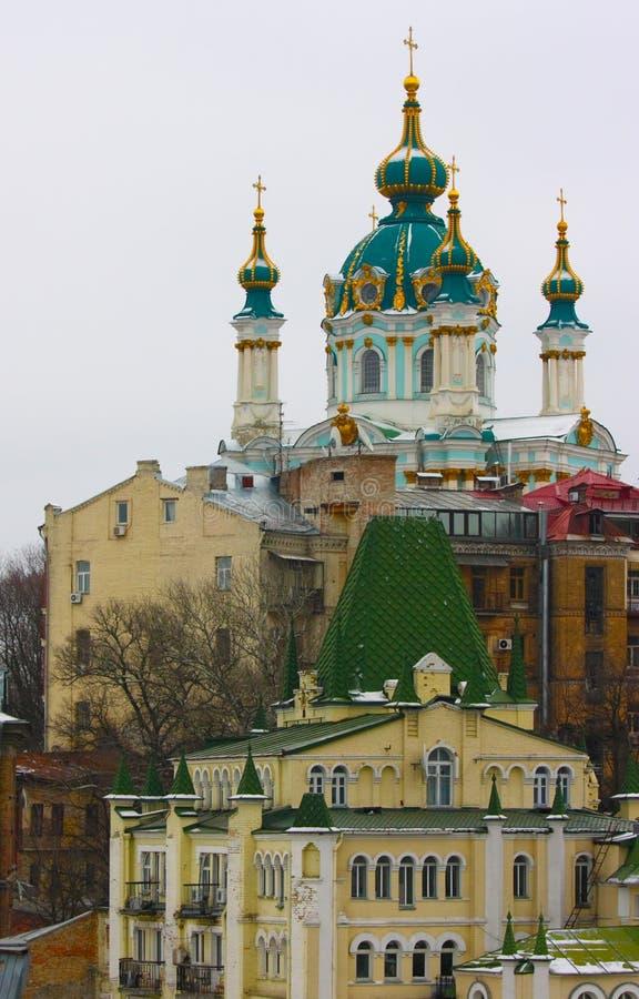 Kiev Ukraine. St Andrew's Church, Kiev, Ukraine royalty free stock photos