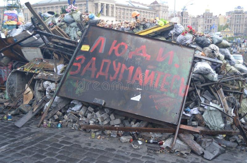 Kiev under occupation of catholic peasants from Western Ukraine. Downtown of Kiev.Kiev under occupation of catholic peasants from Western Ukraine during stock photography