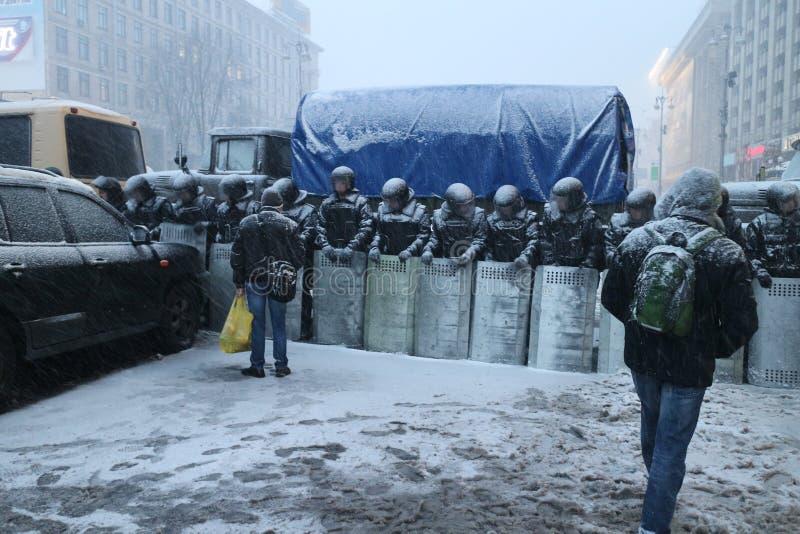 Kiev vóór het conflict stock fotografie