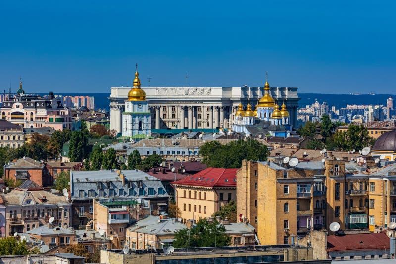 Kiew Dächer Stadtskyline Ukraine Landmark stockfotos