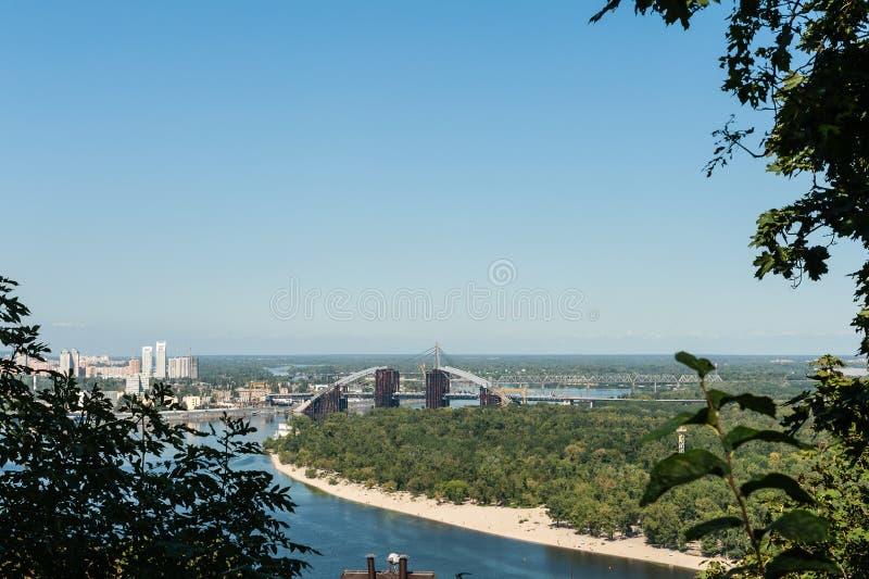 Kiew en Dnieper-mening stock foto's