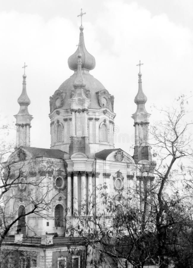 Kiew-St. Andrew Church Church 1964 lizenzfreie stockbilder
