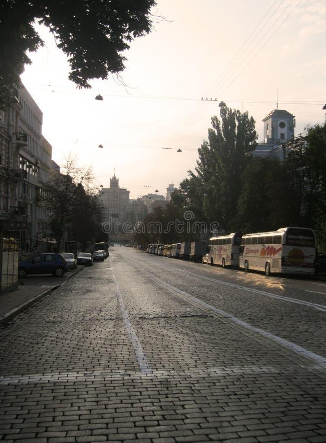 Kiew-Straßen stockfotografie