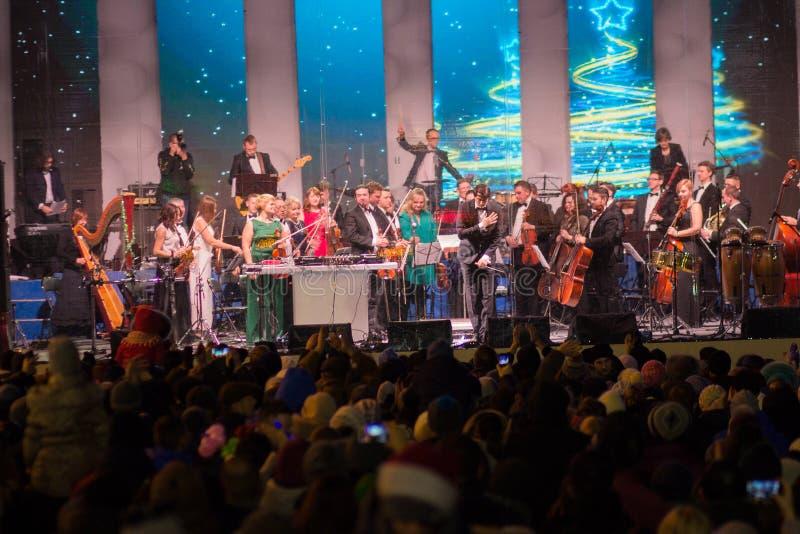 Kiew, Ukraine - 1. Januar 2018: Konzert durchgeführt vom Orchester für Bürger stockbild