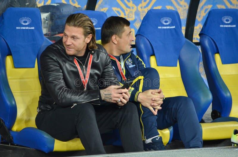 KIEW, UKRAINE - 9. Oktober 2017: Andriy Voronin während der FIFAS stockbild