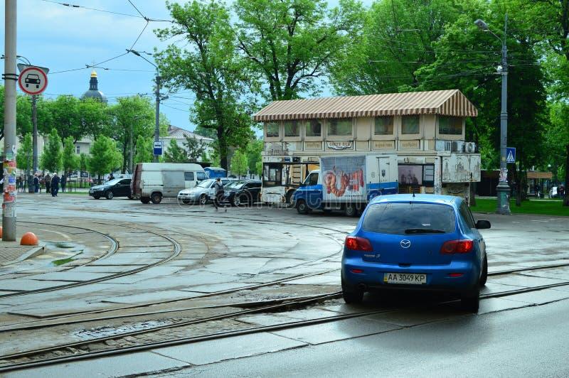 Kiew, Ukraine Ukraine 7 05 2019; Transport in Kiew- und Stadtleben lizenzfreie stockfotografie