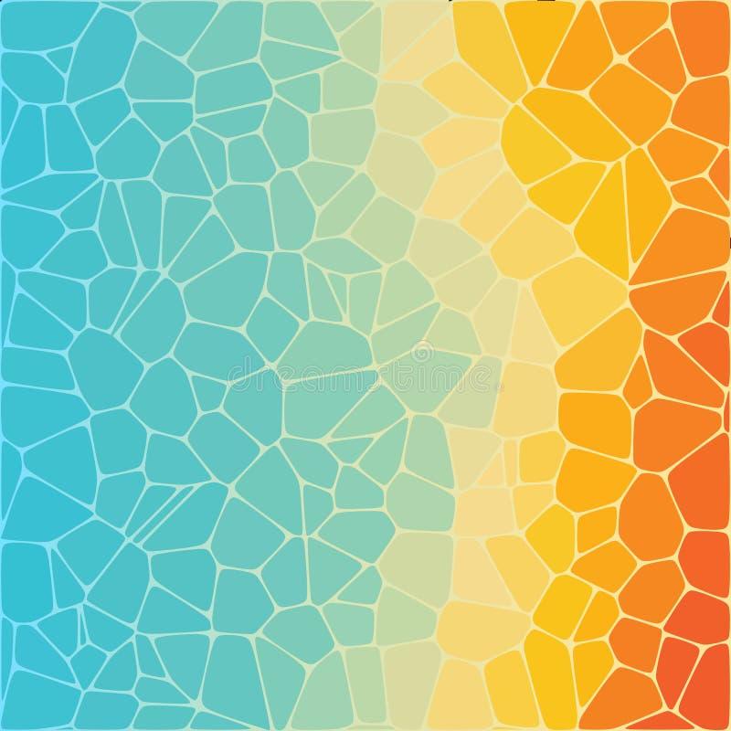 kiezelstenen Gekleurde Achtergrond Abstracte Illustratie lay-out voor de presentatie Veelhoekige stijl stock illustratie