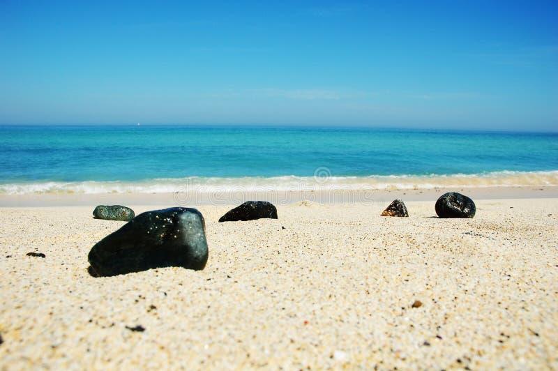 Kiezelstenen op St Ives strand royalty-vrije stock afbeeldingen