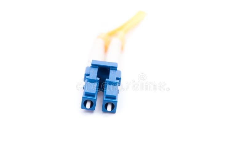 Kiezen de vezel optische kabels geïsoleerde uit wijze LC stock foto's