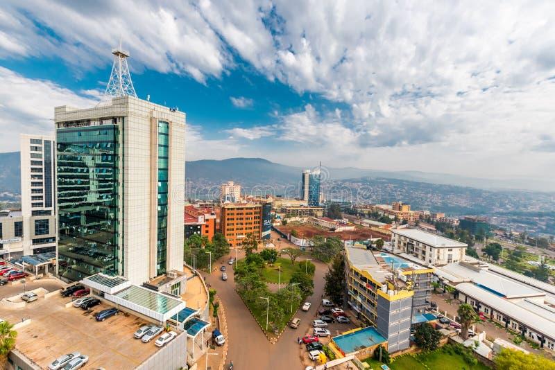 Kigali, Ruanda - 21 settembre 2018: ampio guardare dall'alto in basso di vista fotografia stock