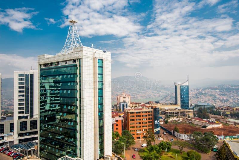 Kigali, Ruanda - 21 settembre 2018: ampio guardare dall'alto in basso di vista immagini stock libere da diritti