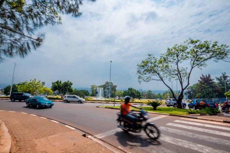 Kigali, Ruanda - 20 settembre 2018: la sfuocatura della a fotografie stock libere da diritti