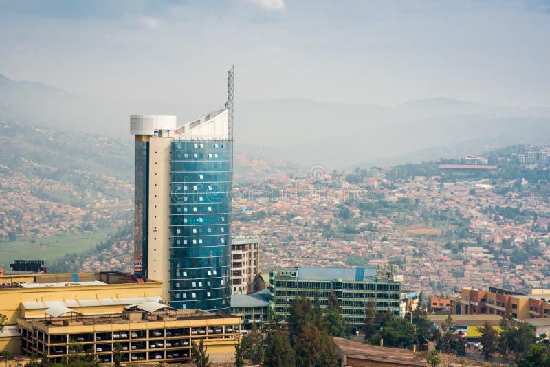 Kigali, Ruanda - 21 settembre 2018: La torre della città di Kigali ha isolato fotografia stock libera da diritti