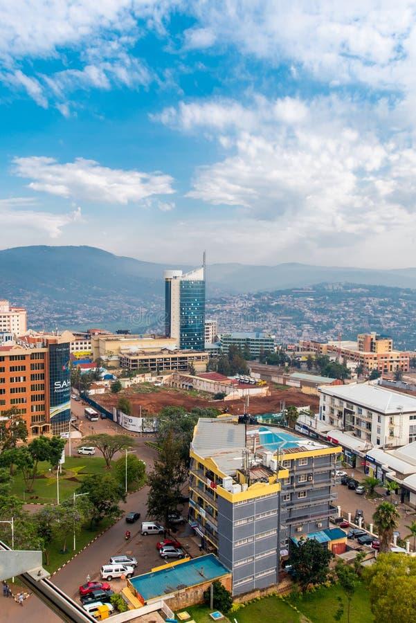 Kigali, Ruanda - 21 settembre 2018: una vista che guarda dall'alto in basso immagini stock