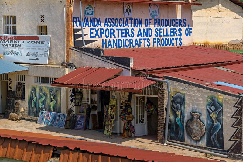 The Association Of Producers,Exporters And Sellers Of Handicraft Products. KIGALI,RWANDA - OCTOBER 23,2017: Kimihurura The Association Of Producers,Exporters And stock images