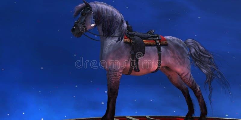 Kiger Srebny koń ilustracja wektor