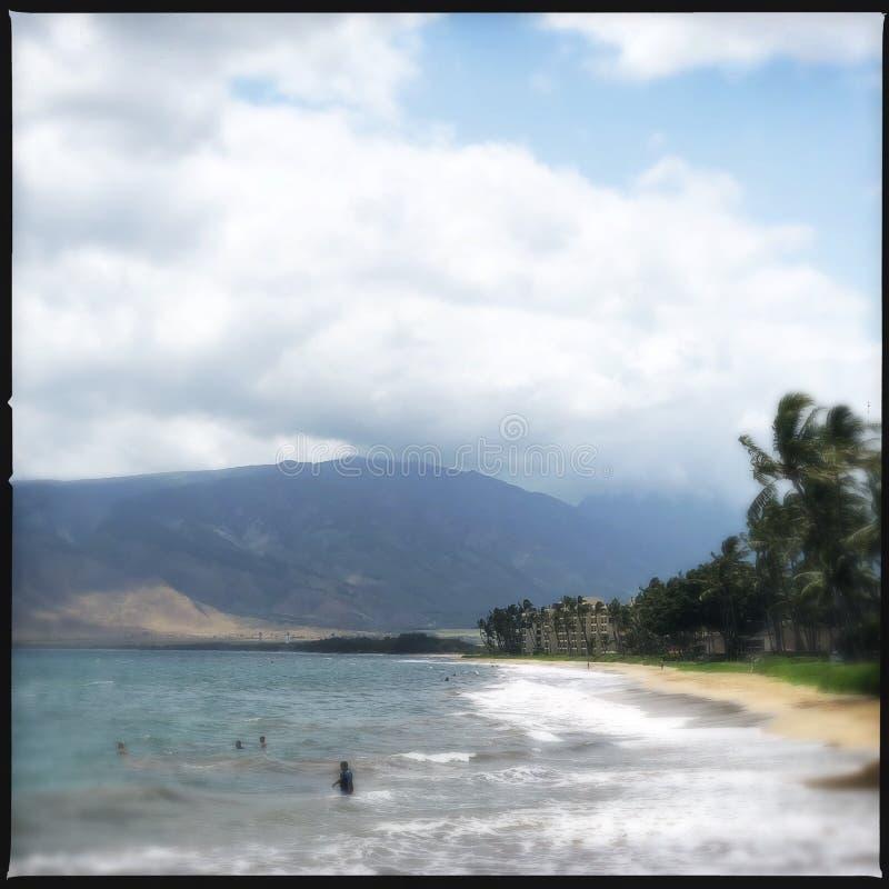 Kihei海滩在夏威夷 免版税库存照片