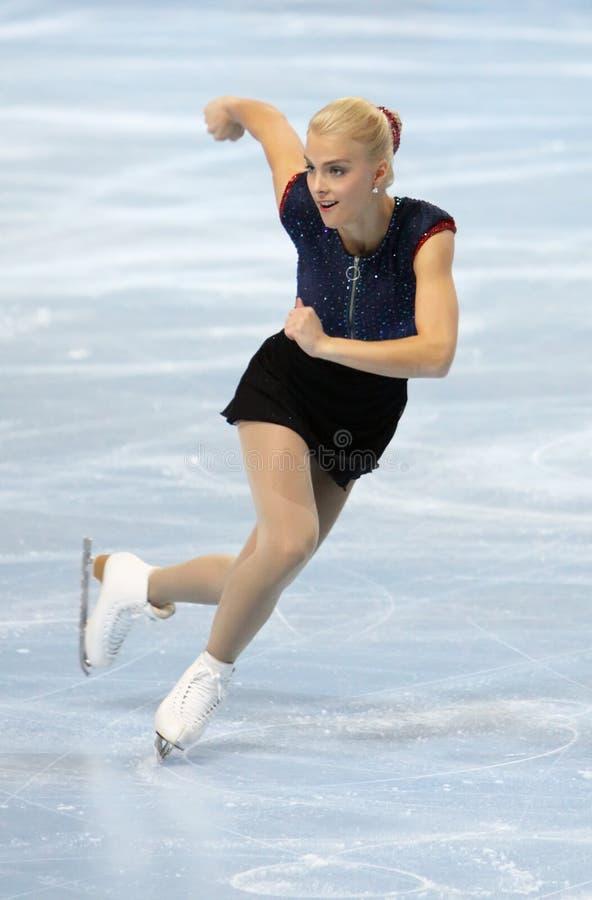 Kiira KORPI (FIN) free skating royalty free stock photo