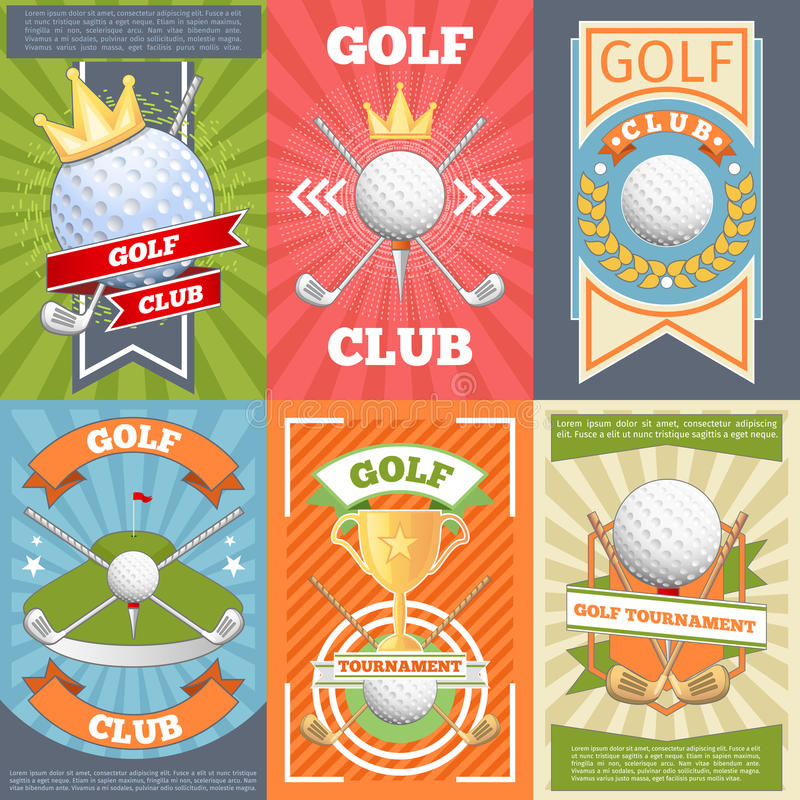 Kijów golfowych plakaty ilustracji