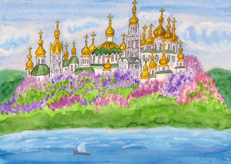 Kijów target126_1_, ilustracja wektor