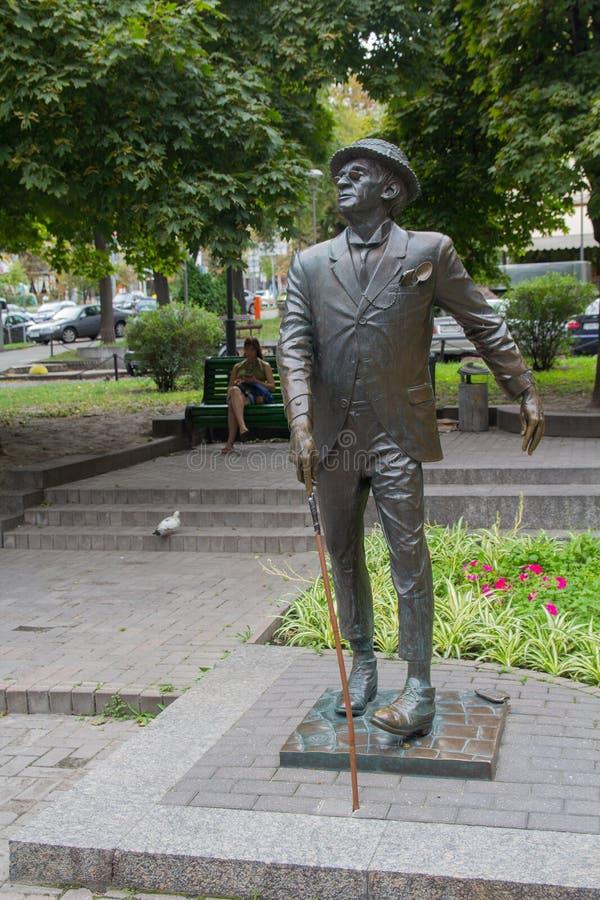 Kijów Ukraina, Sierpień, - 06, 2017: Zabytek literacki bohater Panikovsky zdjęcie royalty free