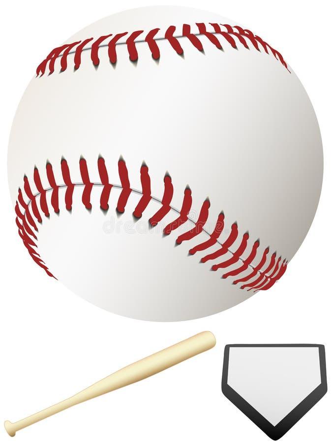 kij baseballowy liga major płytki do domu ilustracja wektor