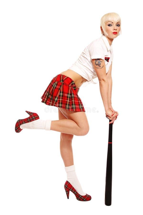 kij bejsbolowy dziewczyna zdjęcie stock