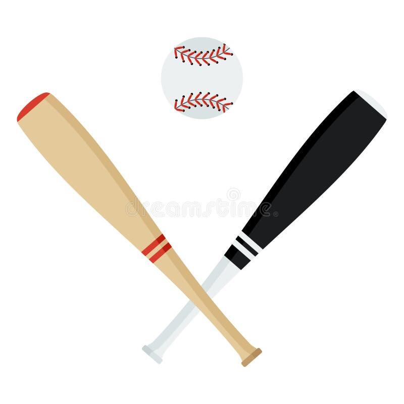 Kij bejsbolowy piłka ilustracji