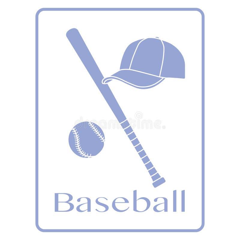 Kij bejsbolowy, pi?ka, nakr?tka Sporta wektoru ilustracja ilustracja wektor