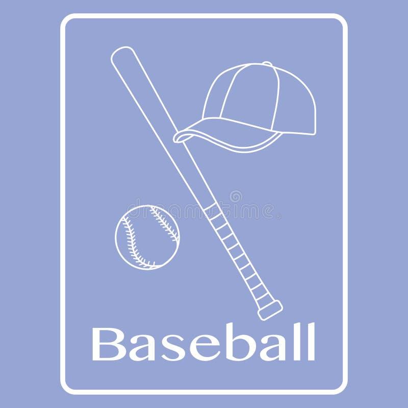 Kij bejsbolowy, pi?ka, nakr?tka Sporta wektoru ilustracja ilustracji