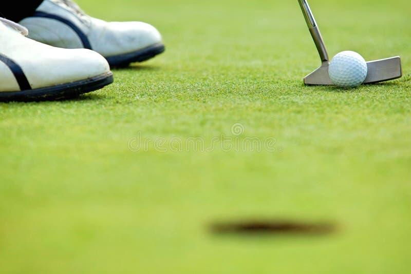 Kij golfowy na polu golfowym fotografia royalty free