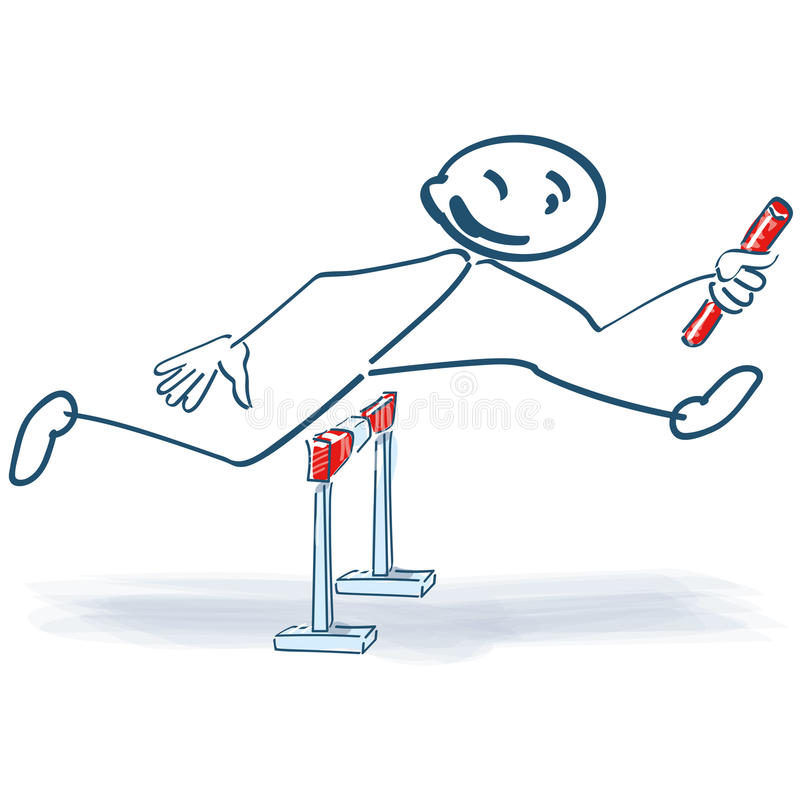 Kij postać jako sztafetowi biegacze ilustracja wektor