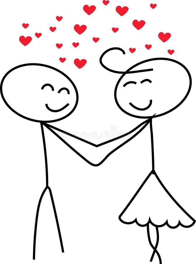 Kij postaci miłość royalty ilustracja