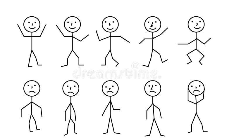Kij postaci piktograma ludzie, różny posec zdjęcia royalty free